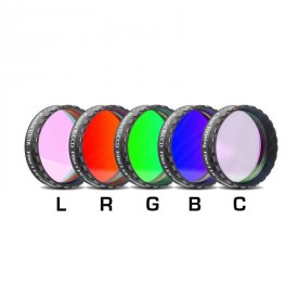 "Baader Filters LRGBC-H-alpha 1.25"" 7nm, OIII and SII Filter Set"